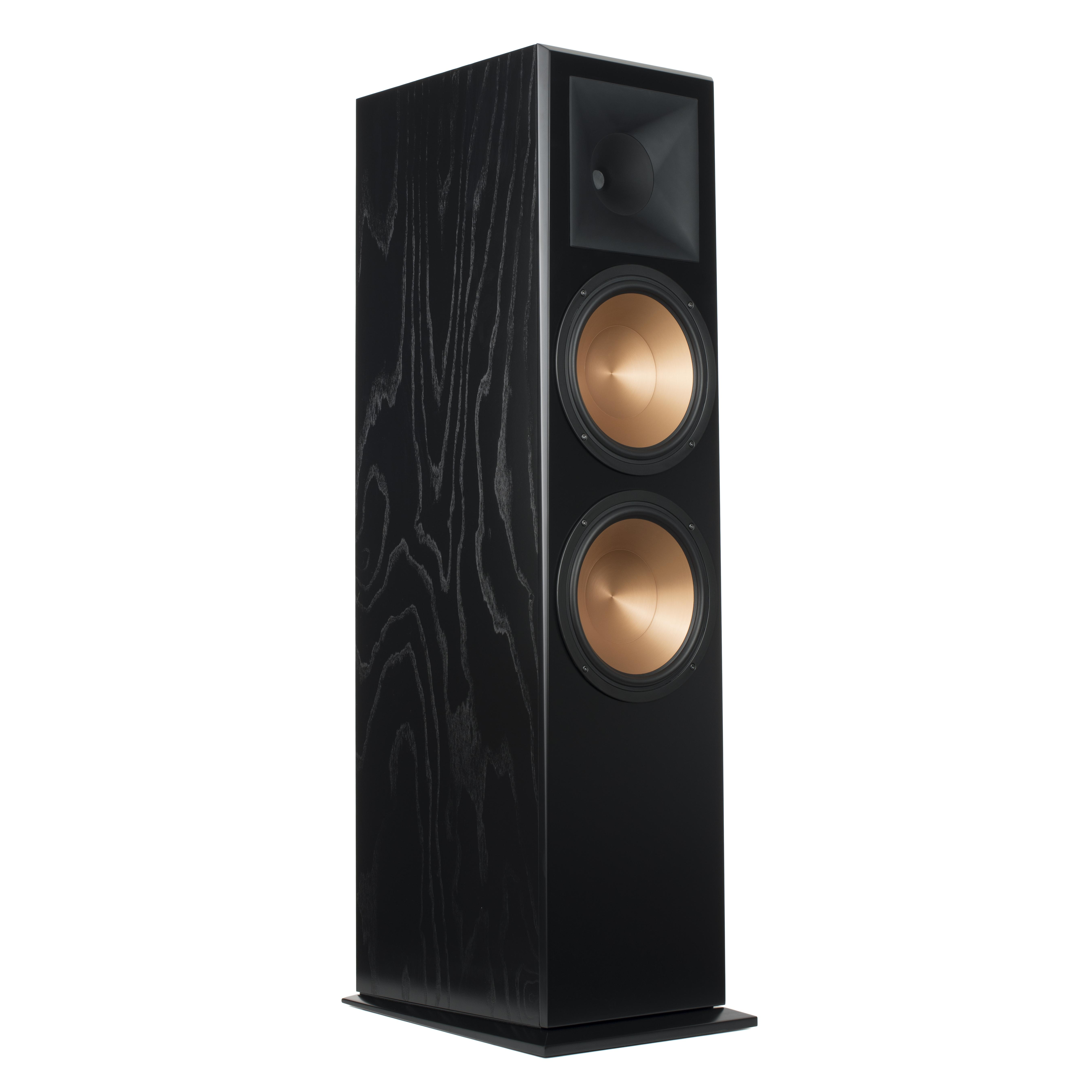 view pin standing front review speakers side floor axiom