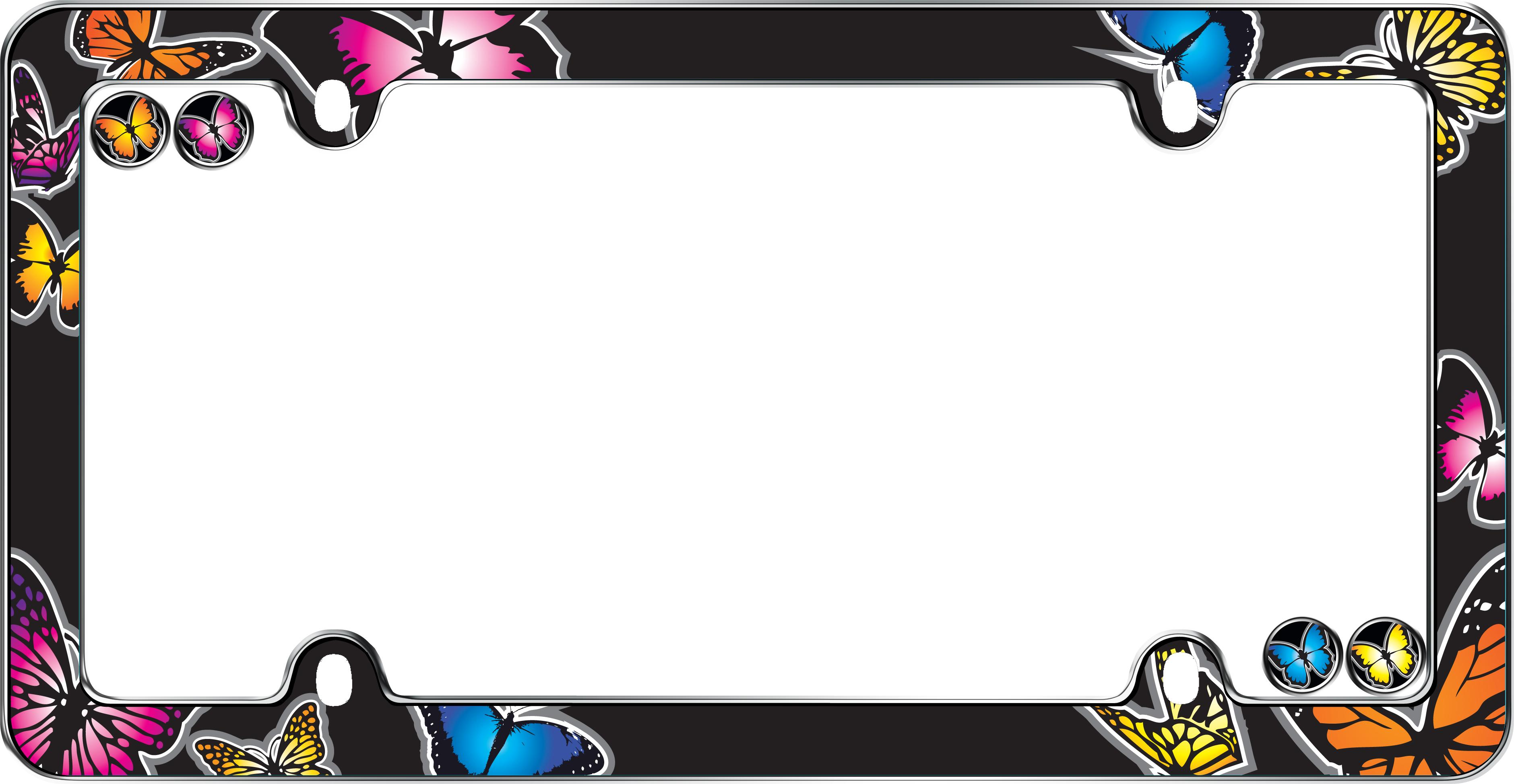 Amazon.com: Cruiser Accessories 23053 Butterfly License Plate Frame ...