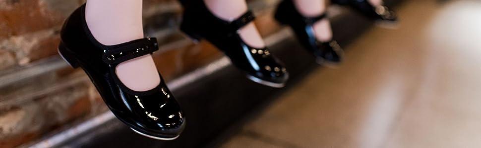 Tap shoes, velcro shoes