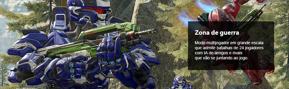 Halo 5, Halo 5 Guardians, maior evolução na história de Halo, zona de guerra, multijogador com live