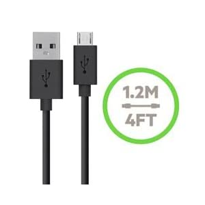 Belkin F8M667TT04-BLK Universal Home Charger with Micro USB ChargeSync Cable