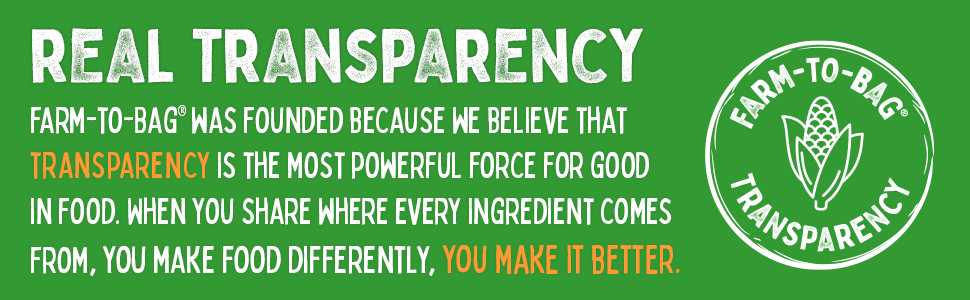 We believe transparency is the most powerful force for good in food, you make food better.