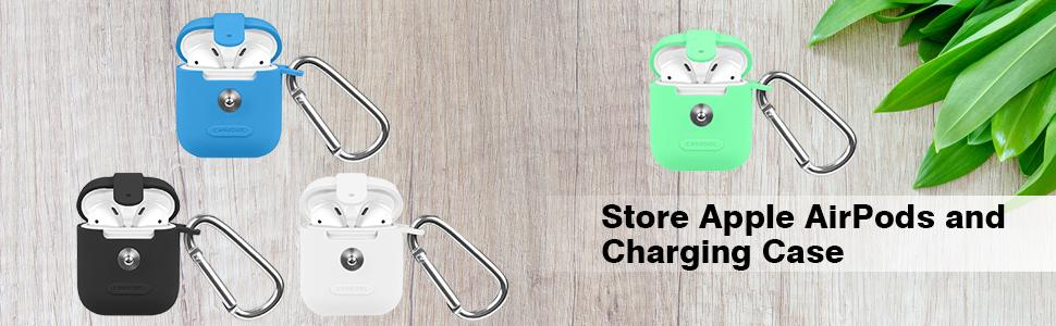 apple airpods charging case, airpods storage case cover, apple airpods skin