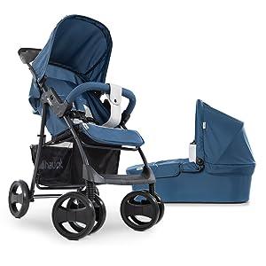 Hauck Pushchair Travel System Shopper SLX Trio Set / Pram with Mattress / Car Seat / Lying Position / Sun Hood / Lying Function / Cup Holder / Large ...