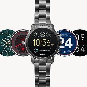 Fossil Mens Gen 3 Explorist Stainless Steel Touchscreen Smartwatch