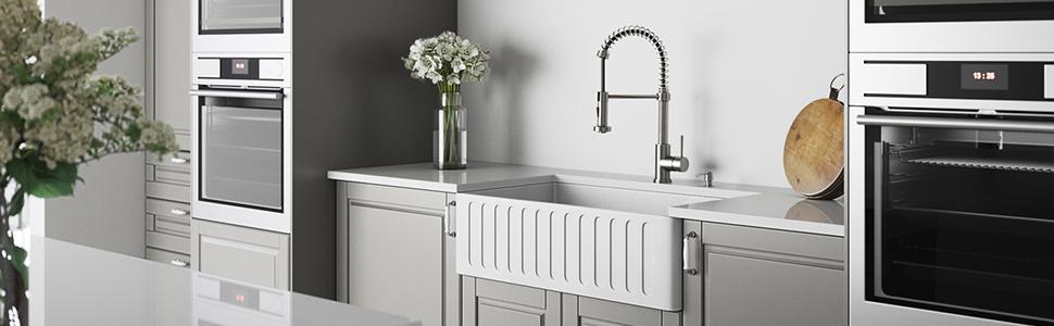 farmhouse kitchen sink, apron front kitchen sink