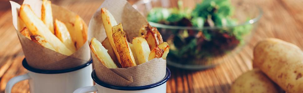 Homemade deep fried chips