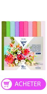 Papier crépon fleuriste