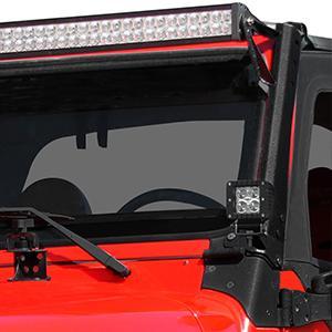 Upper /& Lower Mounting Bracket 97-06 For Jeep Wrangler TJ 52inch LED Light Bar