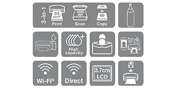 Epson EcoTank ET-2650, Impresora, WiFi, Tamaño Único, Negro
