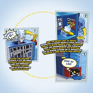 Superzings - Estación De Policía, con 2 exclusivas figuras SuperZings: Amazon.es: Juguetes y juegos