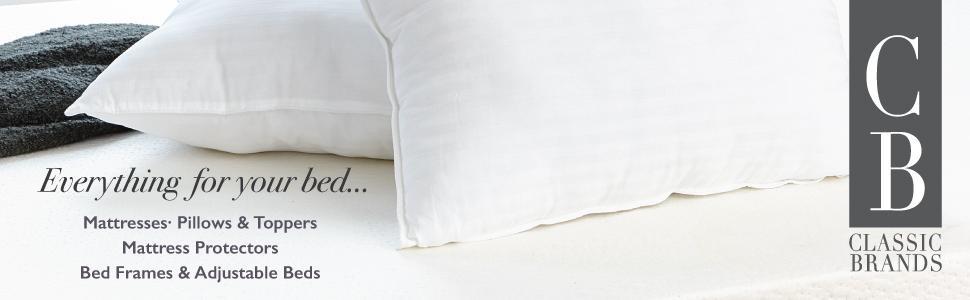 classic brands, pillow, pillows, cool gel, memory foam, latex, down, feather, reversible, best