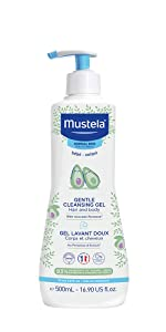 Gentle daily cleanser for hair and body, hypoallergenic, natural formula, tear-free, pump bottle