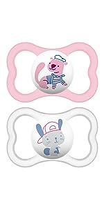 Amazon.com: MAM Perfect Night Baby Pacifier, Niña: Baby