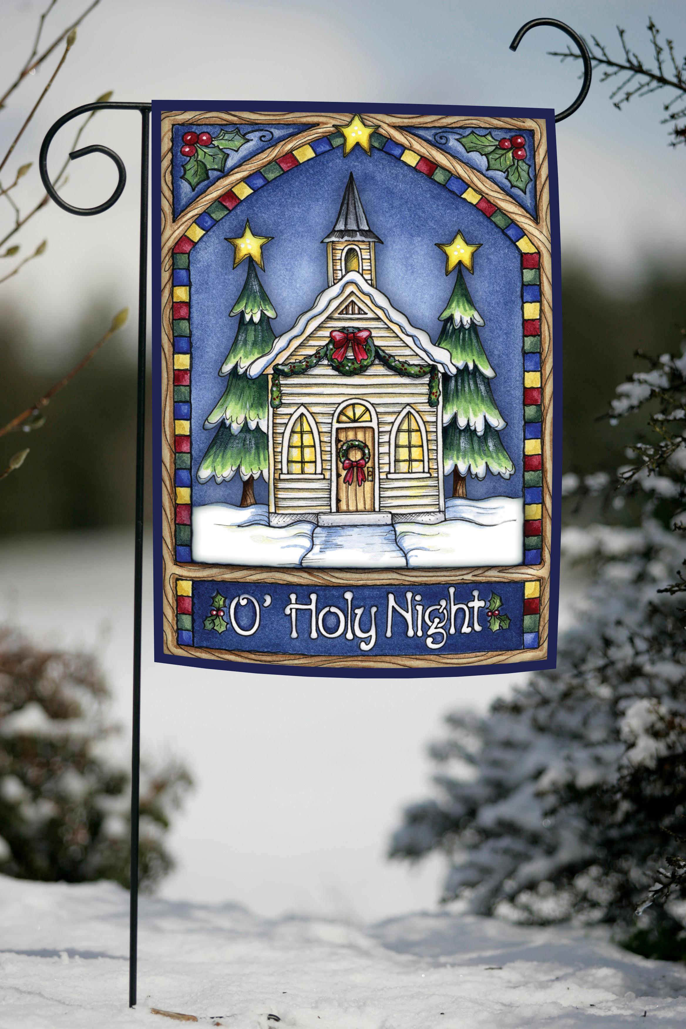 Amazon Toland Home Garden Christmas Church 12 5 x 18 Inch