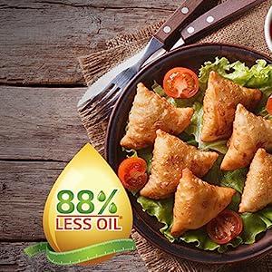 Diet Fry; LG less oil; crispy delights; minimum use of oil; samosas; pakoras;