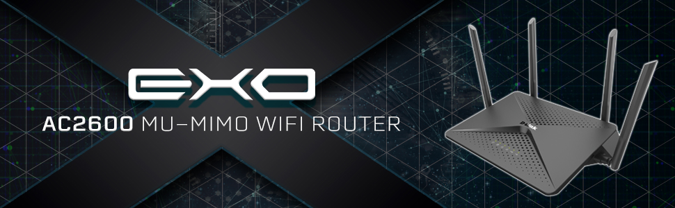 D-Link EXO AC2600 MU-MIMO Gaming Wi-Fi Router