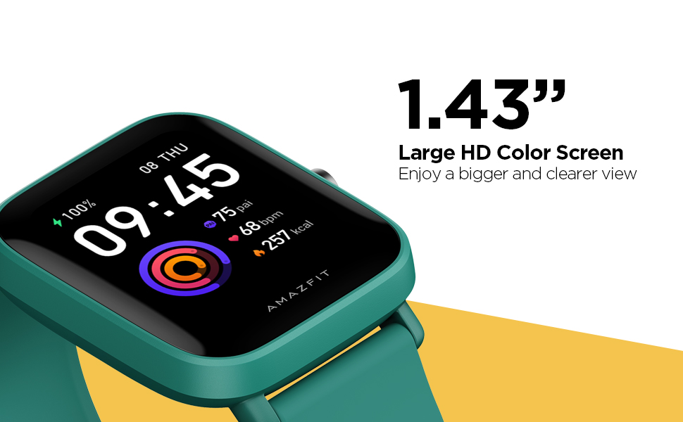 "1.43"" Large HD Color Screen"
