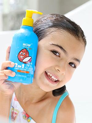 KIDS 3-IN-1 COCONUT TIP TO TOE WASH - 300 ML PUMP BOTTLE