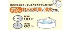 金芽米、おいしい、浸漬時間、浸水時間