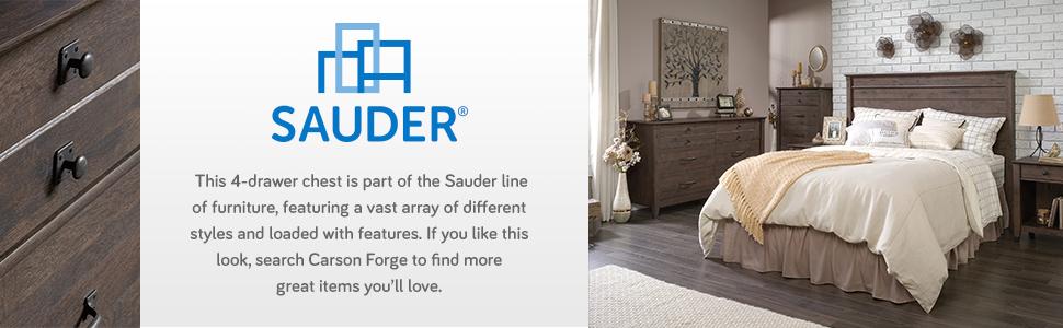 Amazon.com: Sauder Carson 4 cajones, Material Reciclado ...