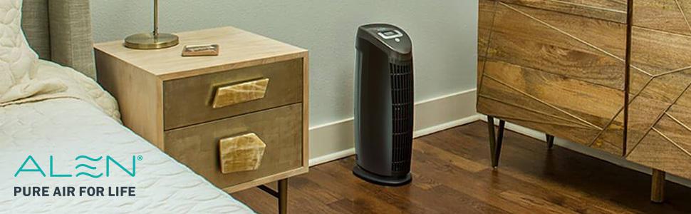 winex,air purifier 200 sq ft, air purifier fan tower, allen filter, alan