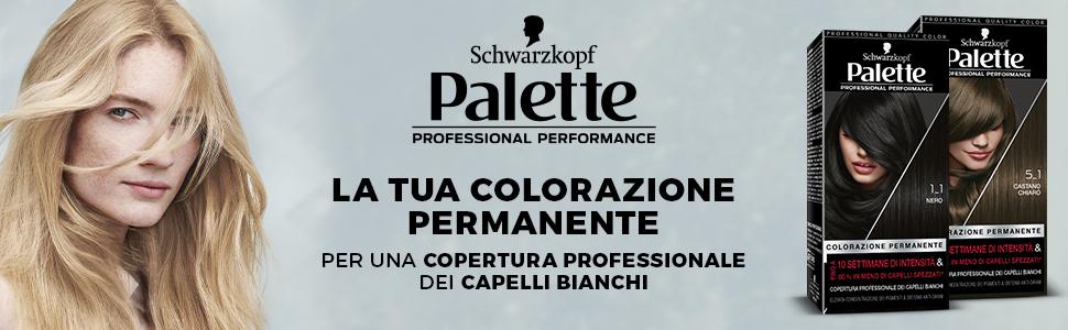 Palette,colorazione permanente,schwarzkopf