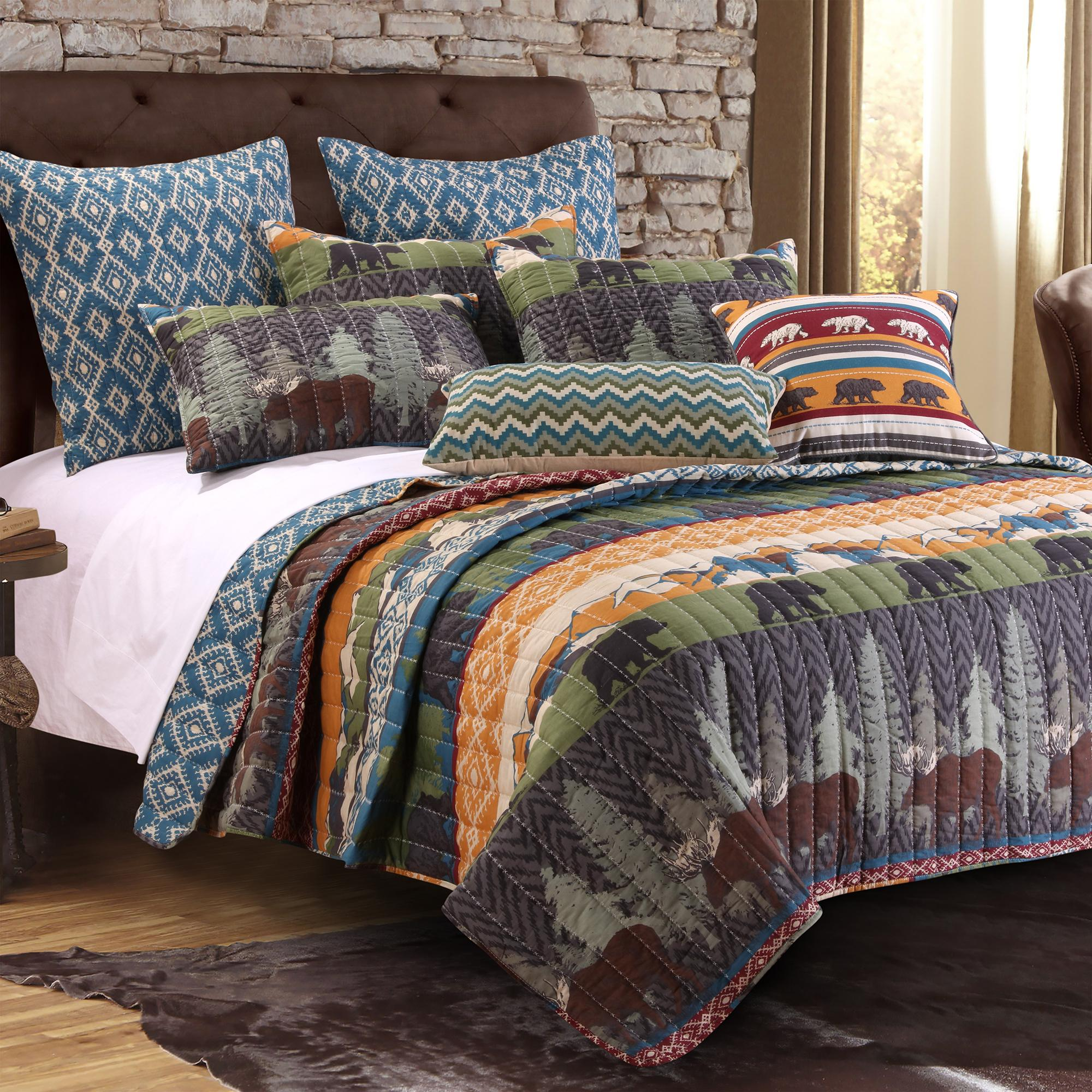 picturesque better homes and gardens quilts. View larger Amazon com  Greenland Home 3 Piece Rustic Lodge Quilt Set Full
