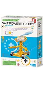 4M Salt Powered Robot, 4m green science