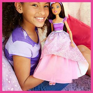 Mattel Barbie DPK21 Große Zauberhaar Prinzessin Brünett