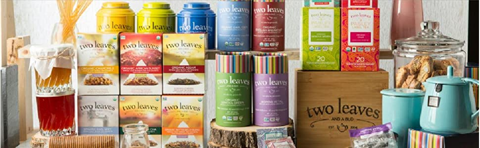 two leaves and a bud tea collection tea bags loose leaf tea bags