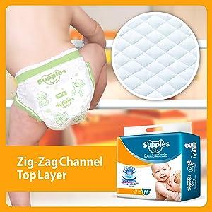 Supples Baby Pants Diapers, Medium