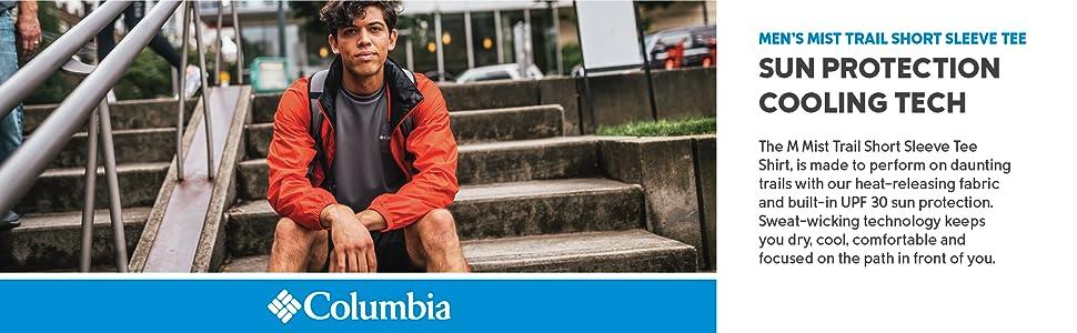 Columbia Men's M Mist Trail Shorts Sleeve Tee Shirt