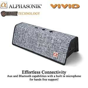 vivid alphasonik bluetooth speaker loud music bass drivers tune travel portable