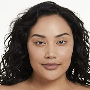 Model before she applies Covergirl Exhibitionist Mascara
