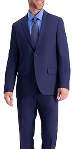 Slim fit jacket, Slim fit suit separate jacket, mens suit jacket, Active Series jacket, Haggar