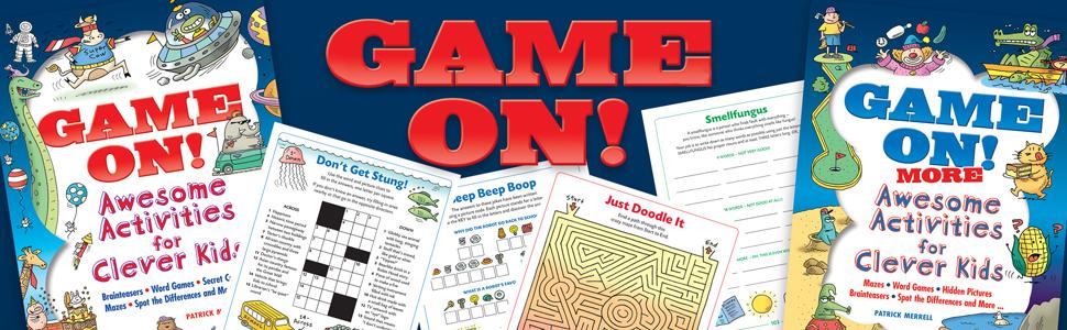 brain teasers, children's activity books, children's books, puzzles, mazes, word games, word search