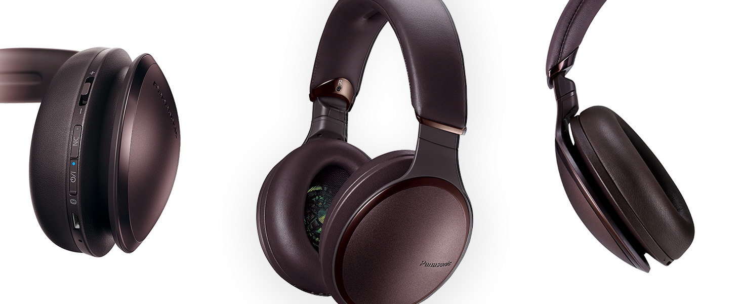 Panasonic RP-HD605N-T brown color wireless noise cancelling headphones