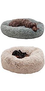 long fur; vegan; bagel; donut bed; dog bed; cat bed; pet bed
