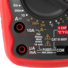 digital multimeter over-voltage protection