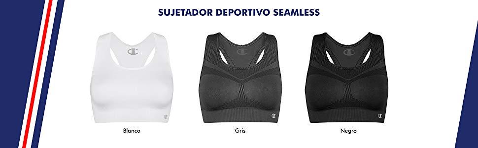 Champion Sujetador Deportivo (sin Costuras) (Pack de 2) para Mujer ...