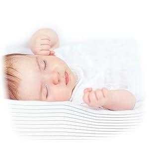 matelas ergonomique bébé bebe enfant 60x120 60 120 memoire de forme déhoussable antiacariens visco