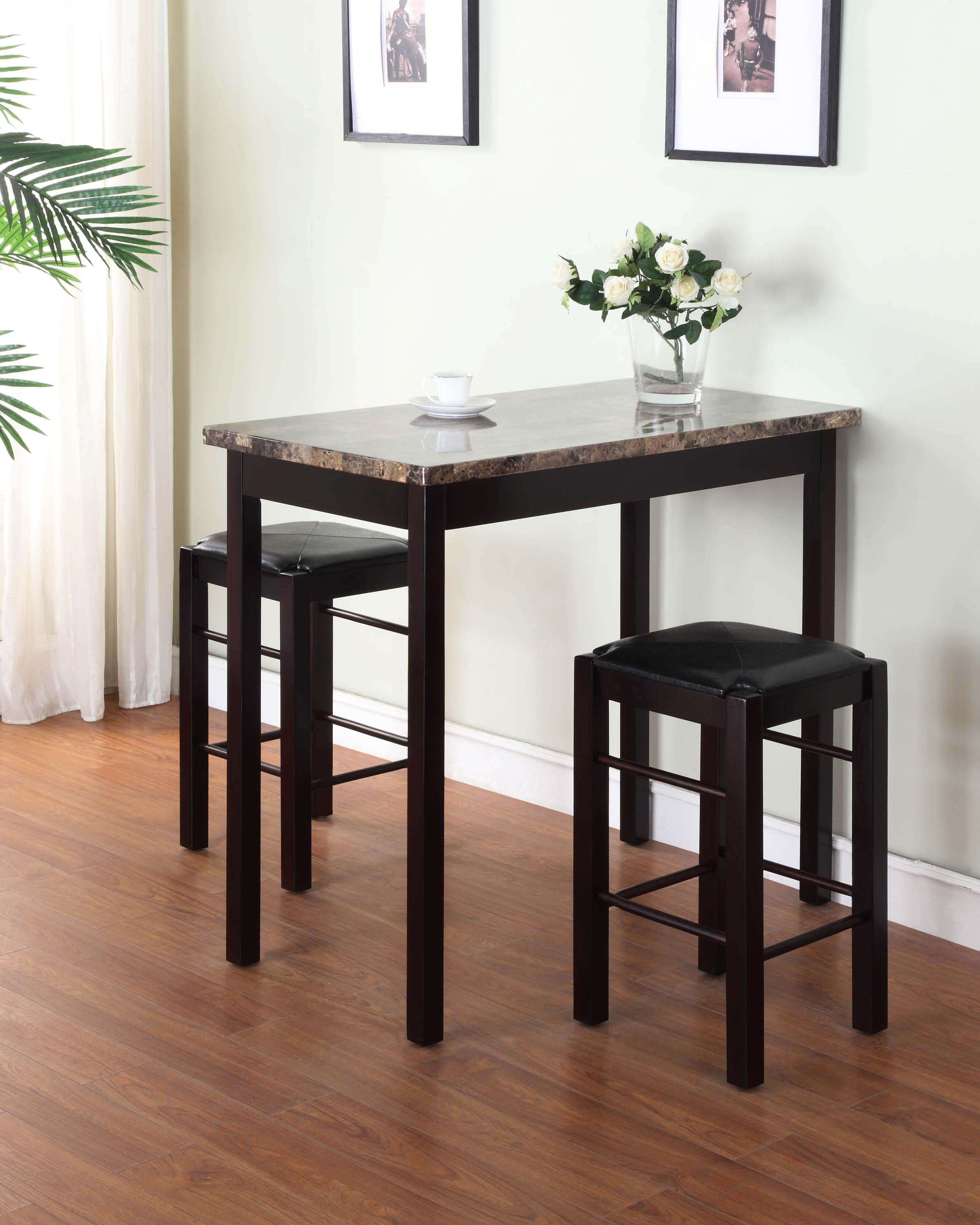 amazon com linon tavern collection 3 piece table set tables view larger