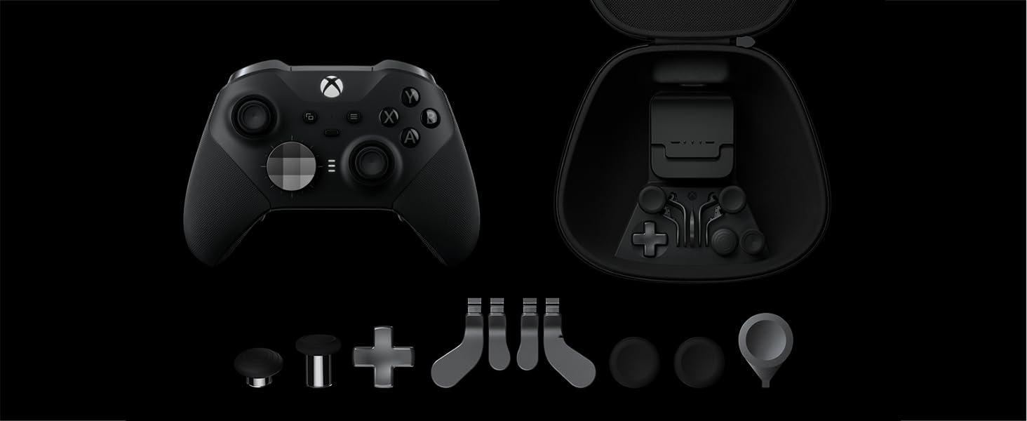 Microsoft - Mando Xbox One Elite Wireless Controller Series 2, negro: Amazon.es: Videojuegos