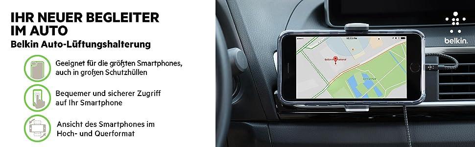 Belkin Kfz Lüftungshalterung Für Iphone 12 12 Pro 12 Pro Max 12 Mini 11 11 Pro 11 Pro Max Xs Xs Max Xr X Se 8 8 Plus Samsung Note9 S10 S10 S10e Lg Sony Google Etc Elektronik