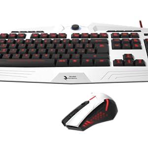 Mars Gaming MCPZE1 - Pack de teclado y ratón gaming para PC (12 teclas multimedia, retroiluminación 7 colores, control intensidad, 2800 DPI, 6 botones gaming, ambidiestro), color blanco: Mars-Gaming: Amazon.es: Informática