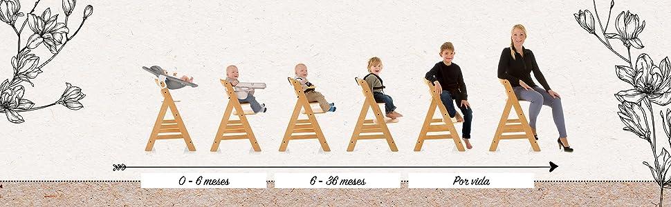 0 - 6 meses 6 - 36 meses por vida Alpha+ Hauck Soporte de peso hasta 90kg