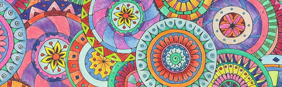 kaleidoscope wonders adult coloring color art for everyone