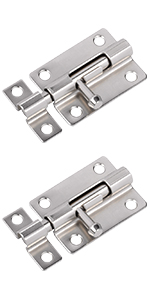 Door Security Slide Latch Lock, 3 in Barrel Bolt with Solid Heavy Duty Steel to Keep You Safe