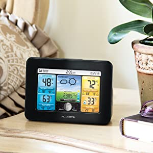 weather station, thermometer, hygrometer, outdoor temperature, forecaster, color weather station